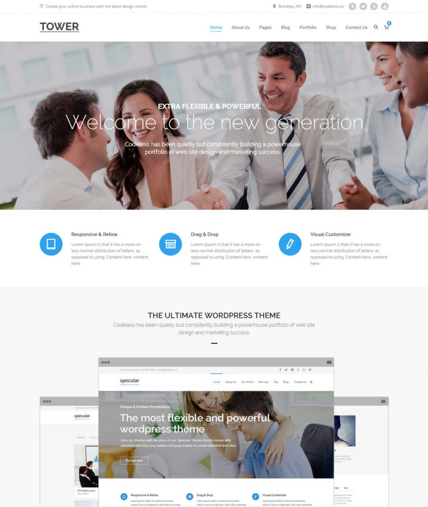 Tower - Business WordPress Theme