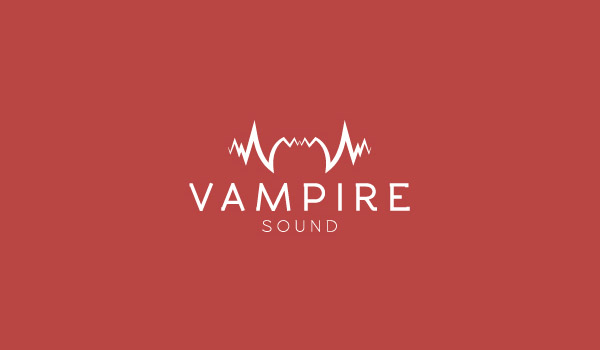 logo with a wave of the sound