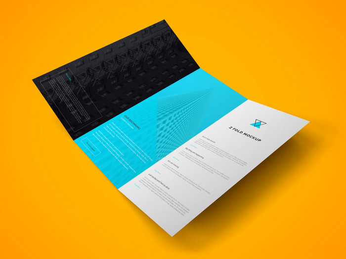 Tri Fold Brochure PSD Mockup template