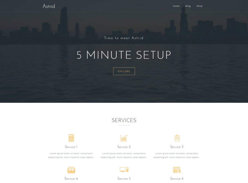 Astrid free small business theme