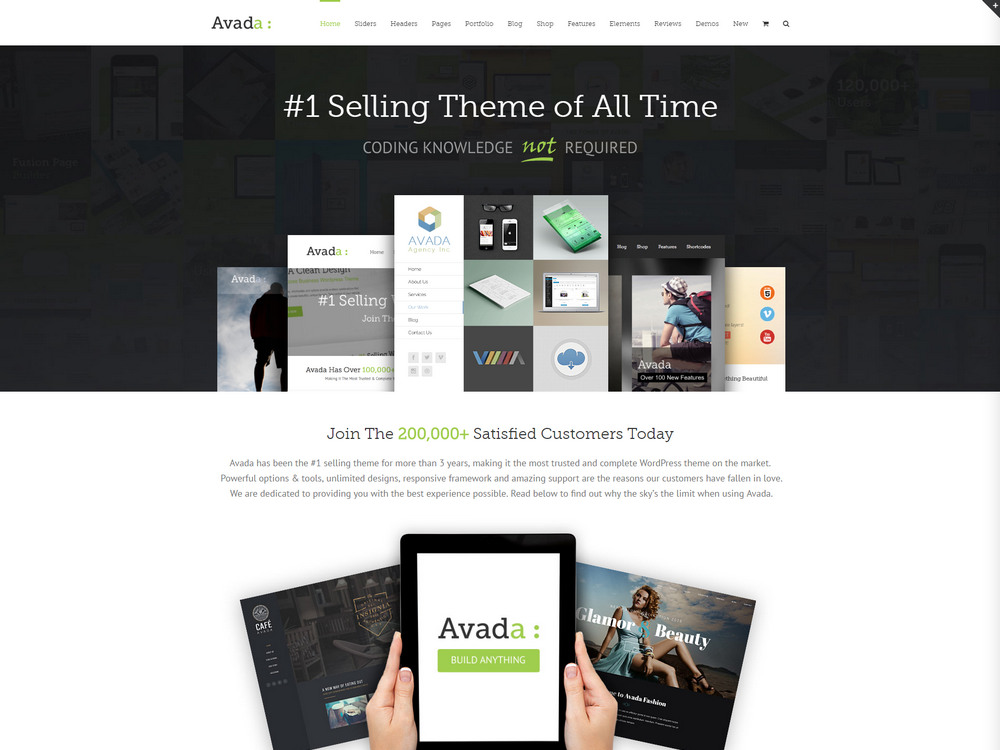 avada corporate best theme