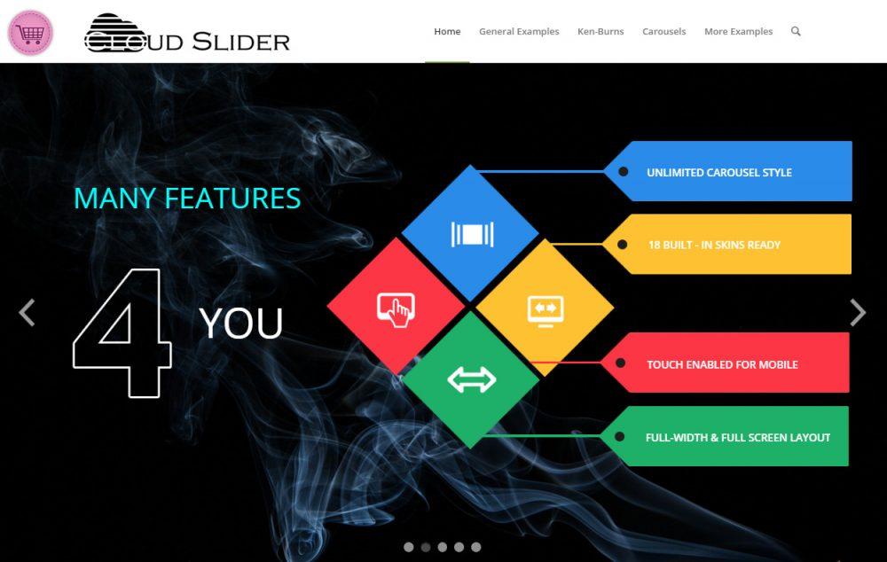 Cloud Slider - premium Responsive WordPress Slider