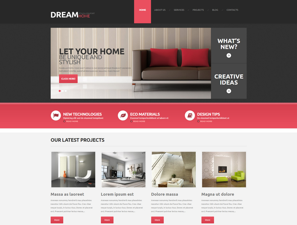 dreamhome wordpress theme