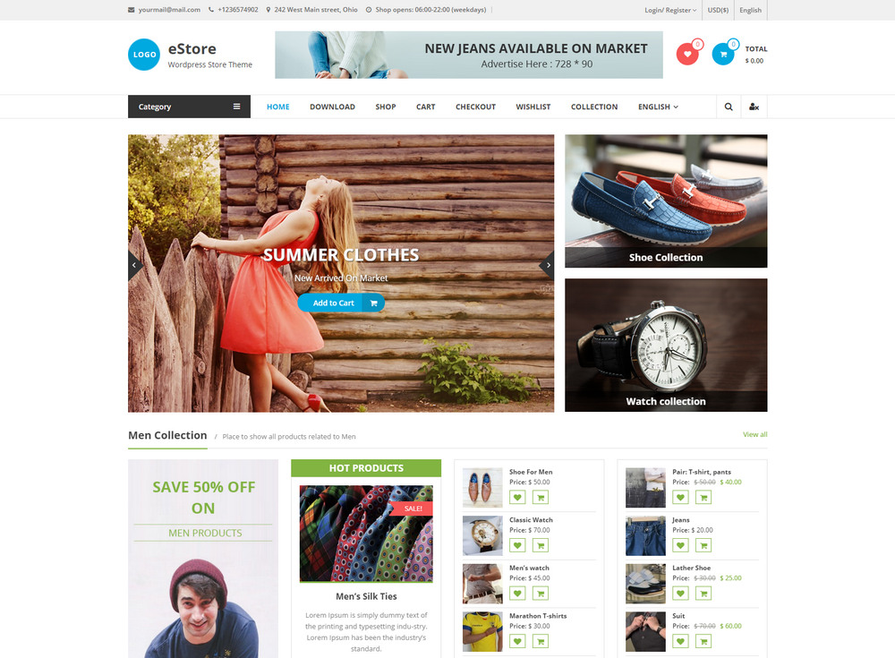free Multicolor & Multipurpose Woocommerce Theme