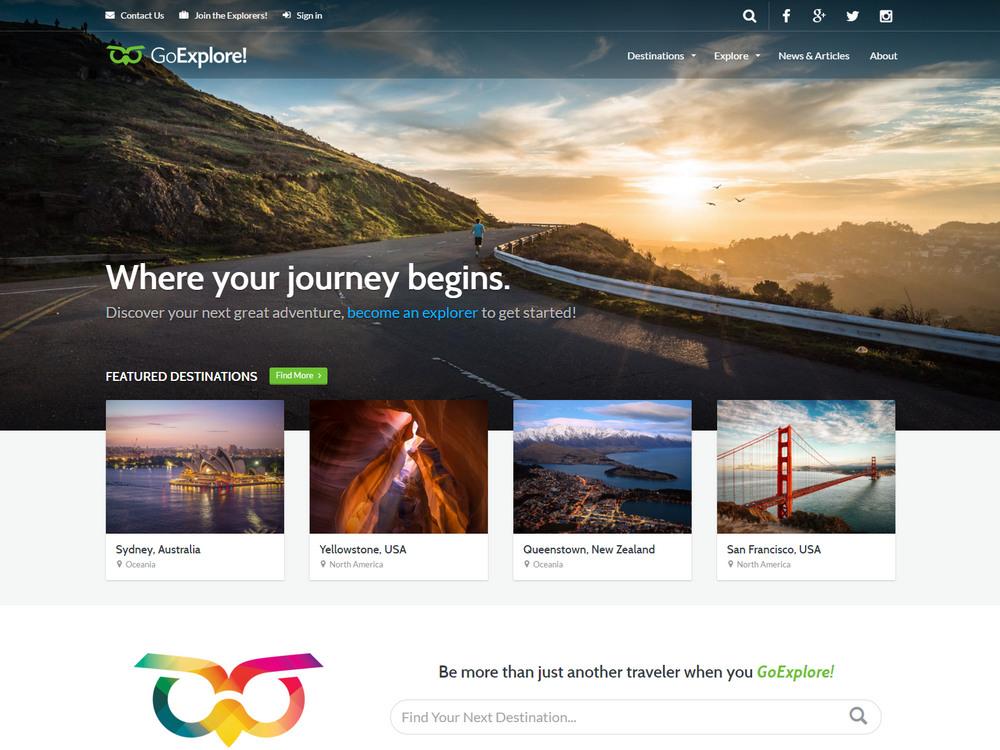 goexplore travel wordpress theme like flipkey