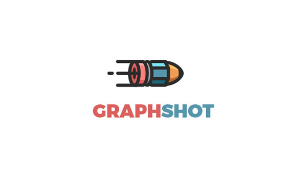 graph shot logo of pencil