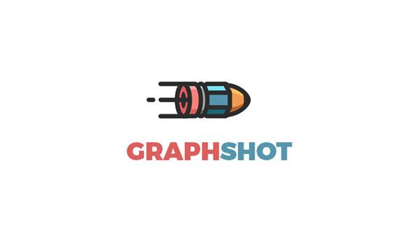 graph shot logo of pencil