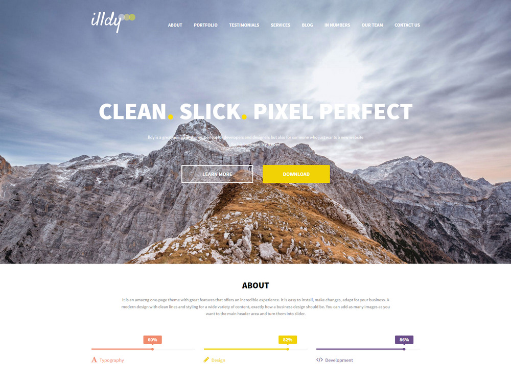 illdy pixel perfect wp theme