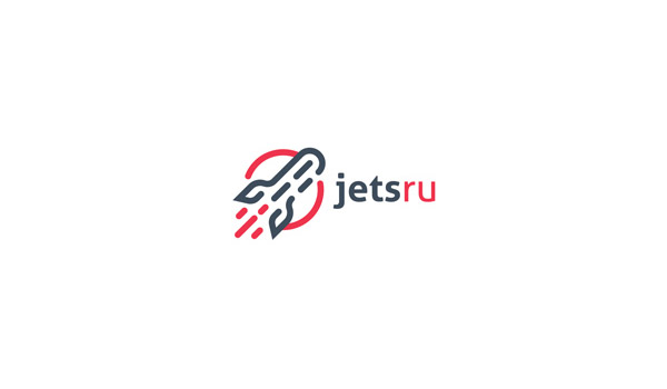 jet logo in flat design