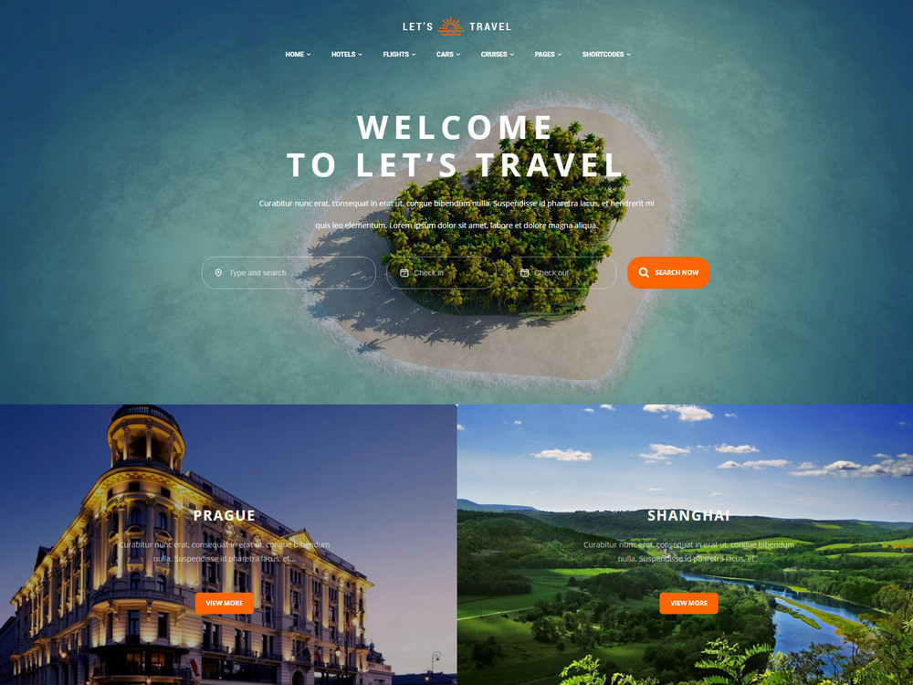 Complete Travel Booking Theme similar to airbnb theme