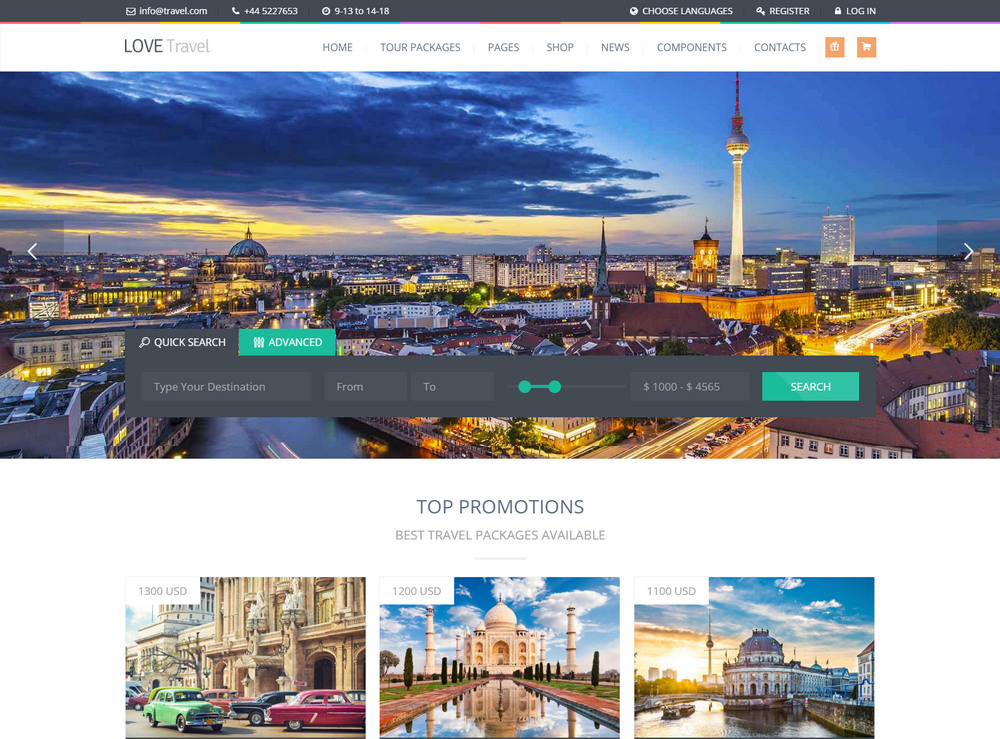 Creative Travel Agency WordPress theme