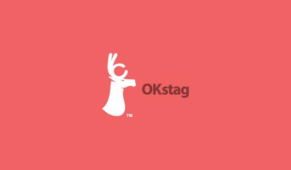 """flat logo designs as an """"OK"""" sign"""