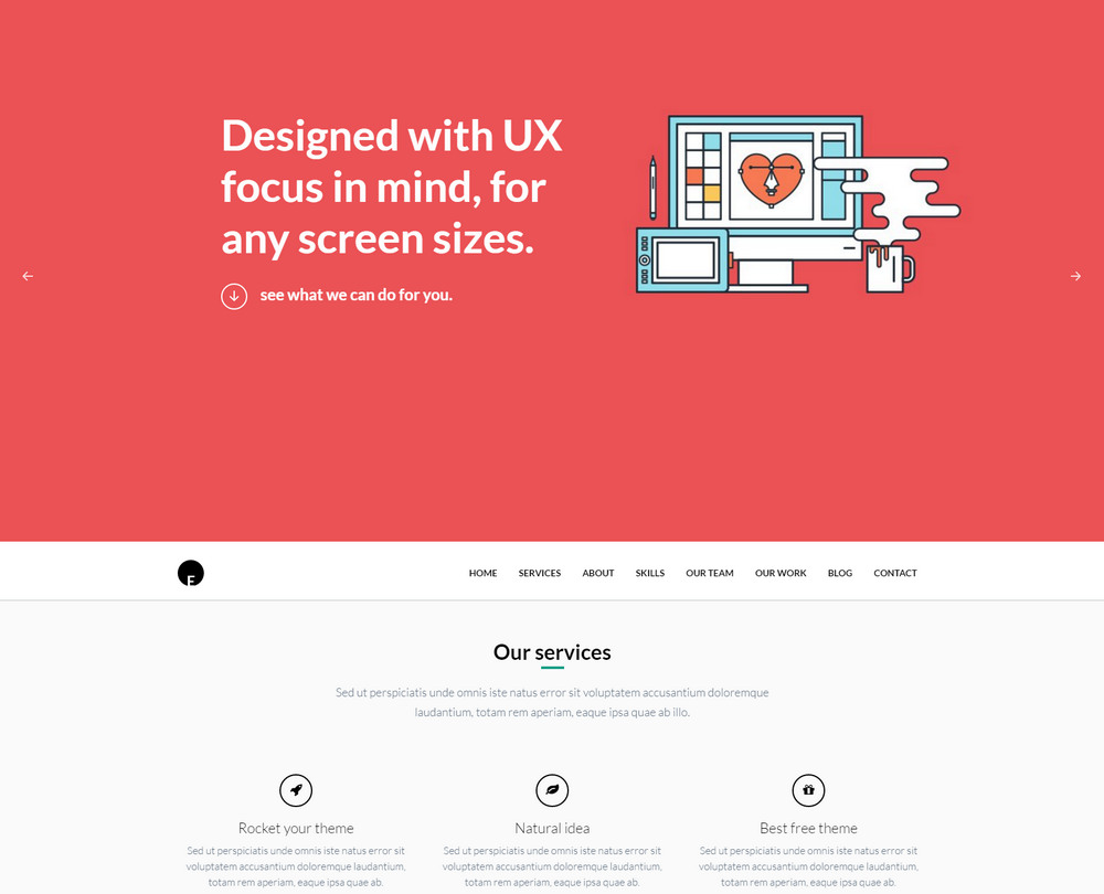 oneengine free business onepage theme