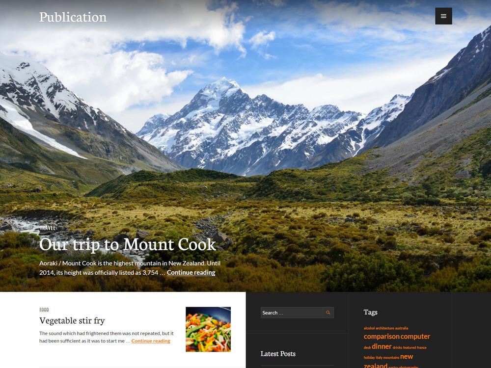 elegant blog and magazine travel theme