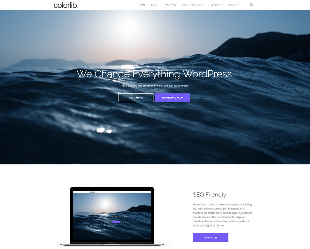 shapely onepage free theme