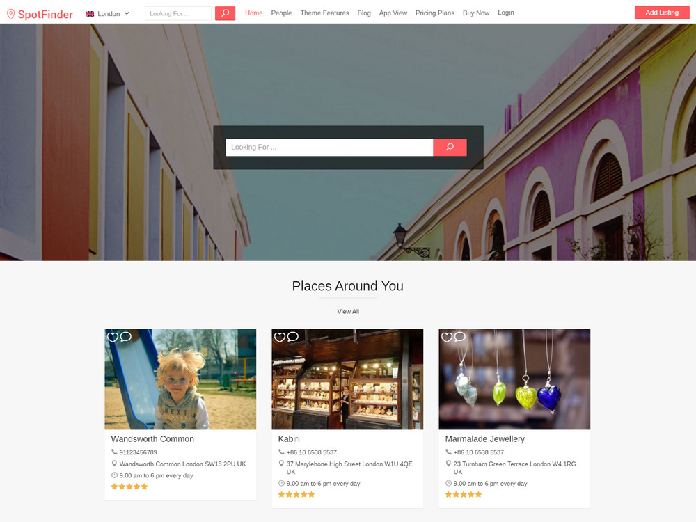 spotfinder - airbnb clone wordpress theme