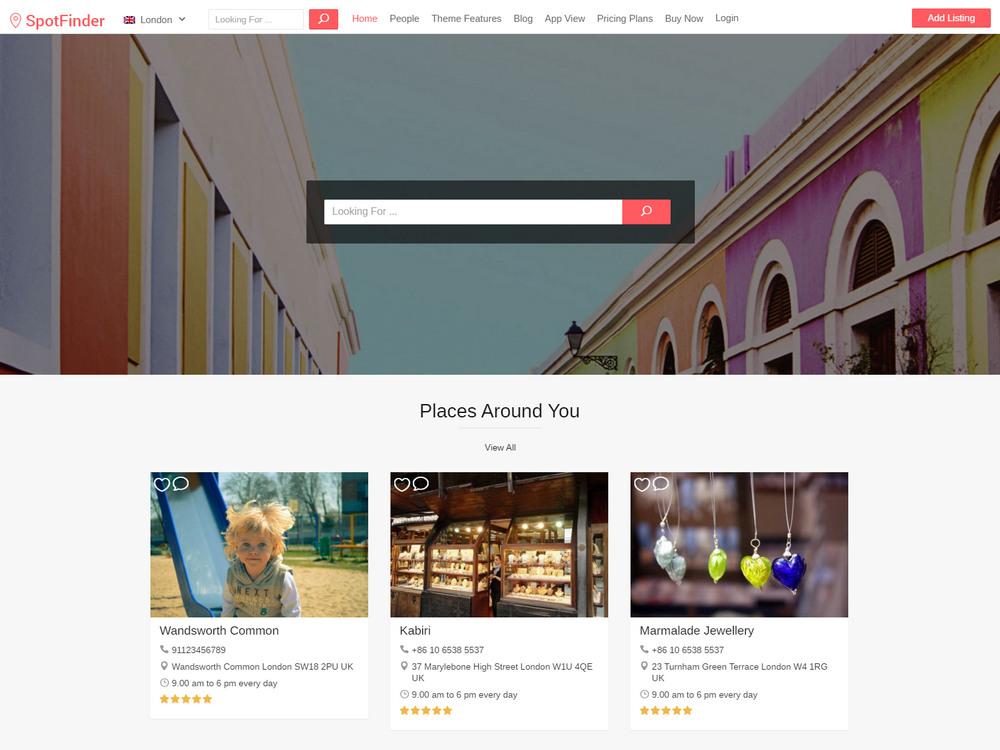 spotfinder - airbnb clone wordpress theme
