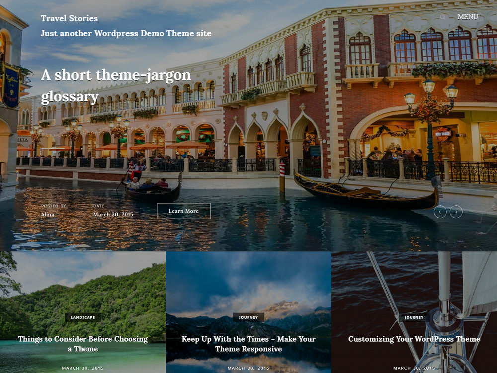 stories - free wordpress travel blog theme
