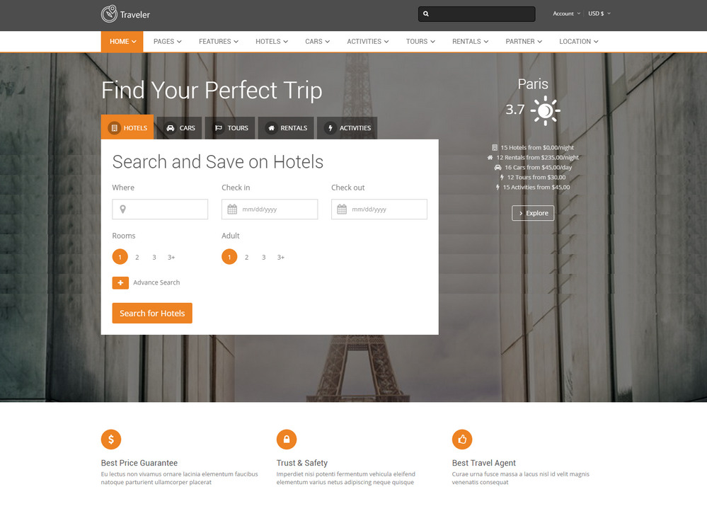 traveler Booking WordPress Theme