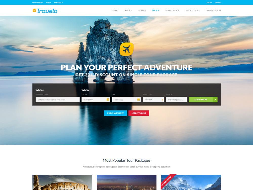 Travelo - Travel/Tour Booking WordPress Theme