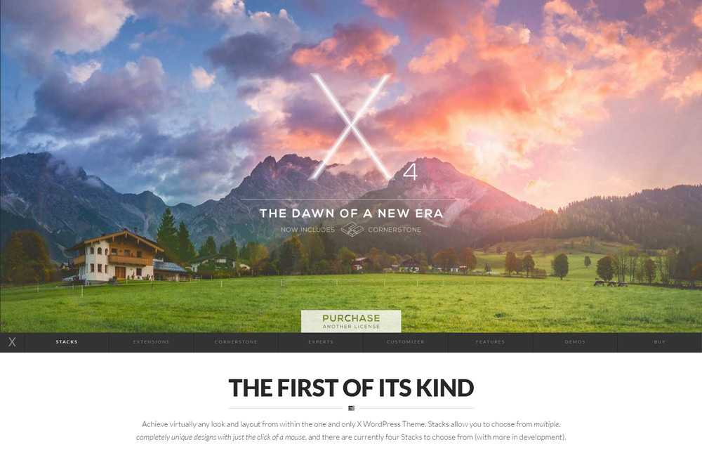 x--theme mulitpurpose wordpress theme