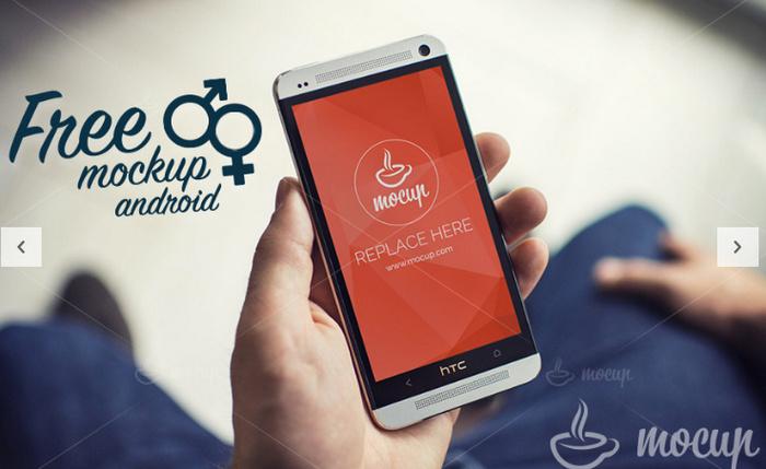FREE Android PSD Mockup Gentleman