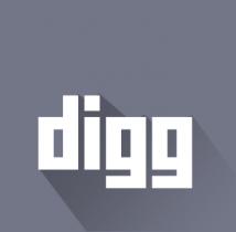 free flat digg icon