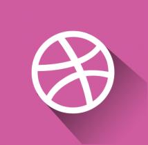free flat dribble icon