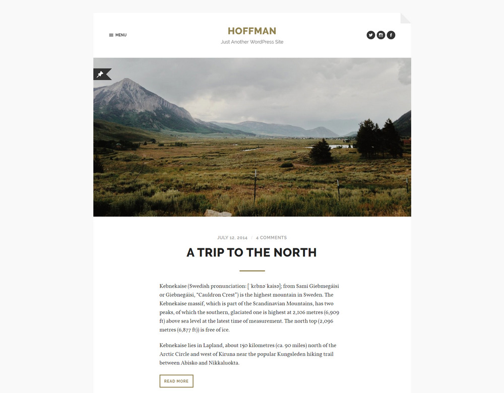 minimal, responsive and retina-ready wp theme