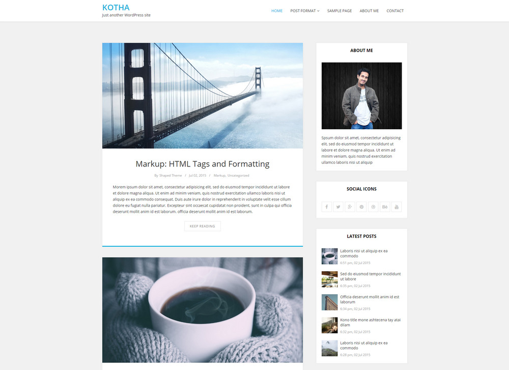 clean, elegant Responsive WordPress Blog Theme