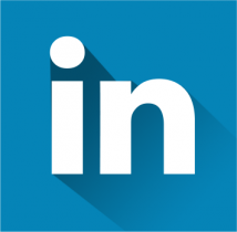 free flat linkedin icon
