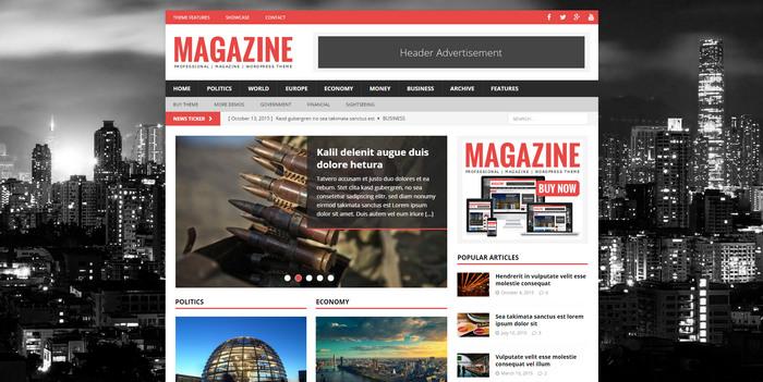 best Responsive Premium Magazine WordPress Theme
