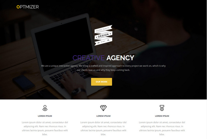 optimizer creative agency theme for wordpress