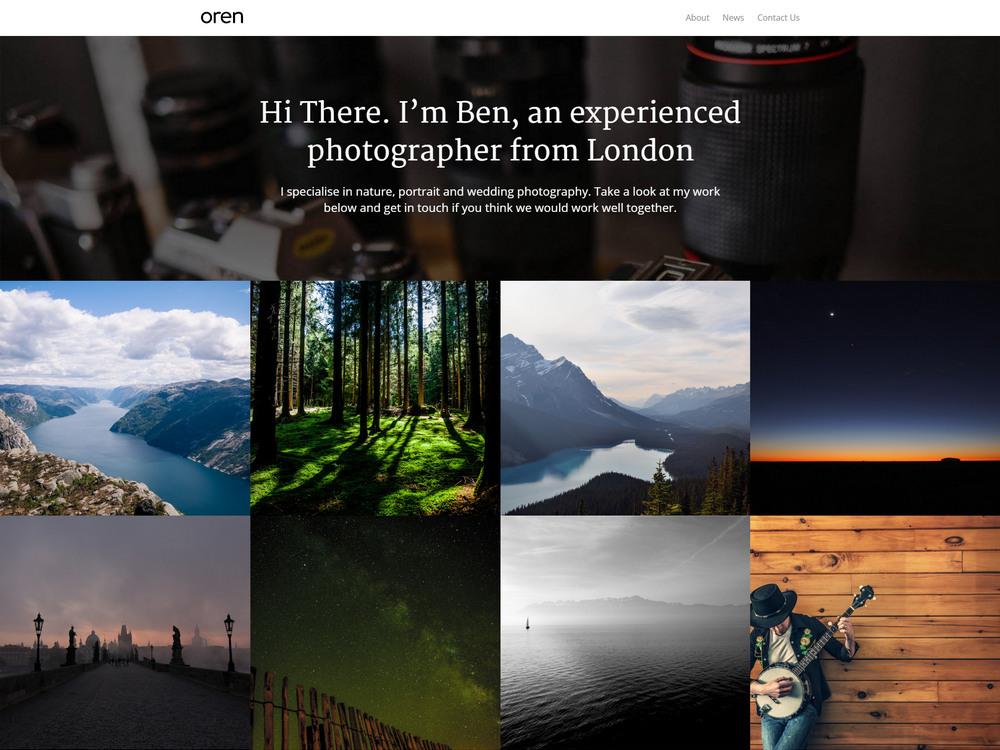 free simple portfolio theme with blog