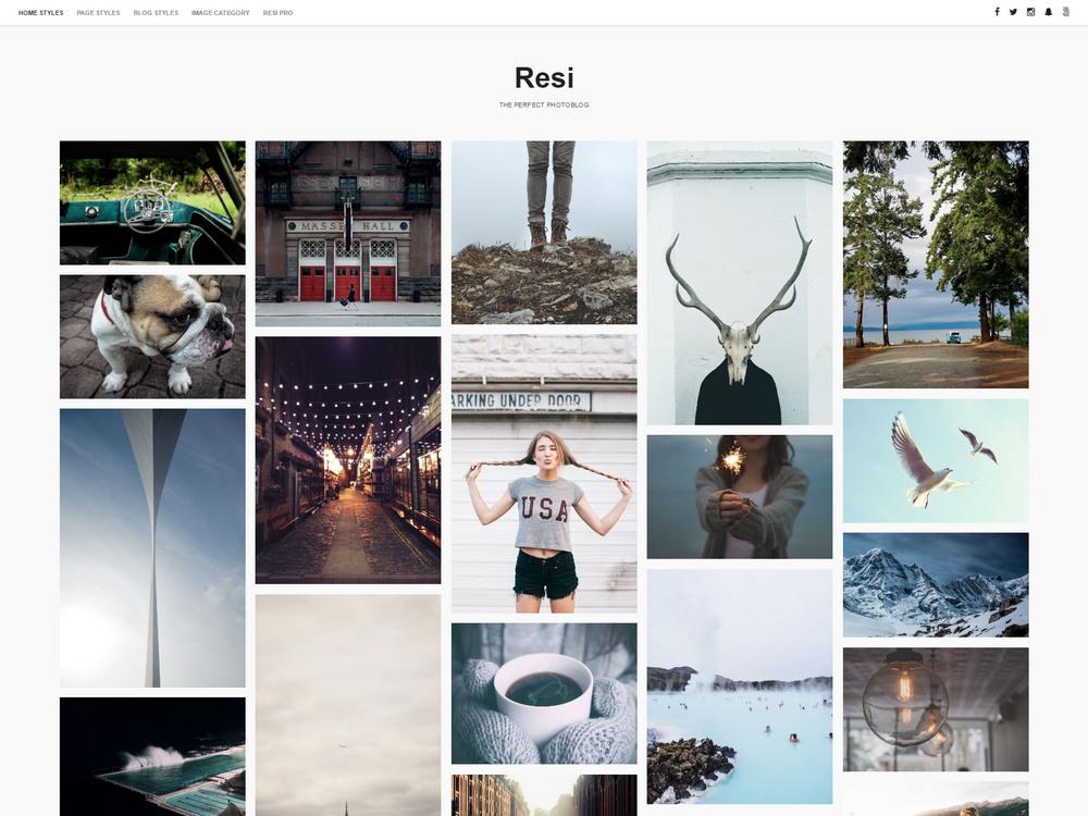 resi free wp portfolio theme
