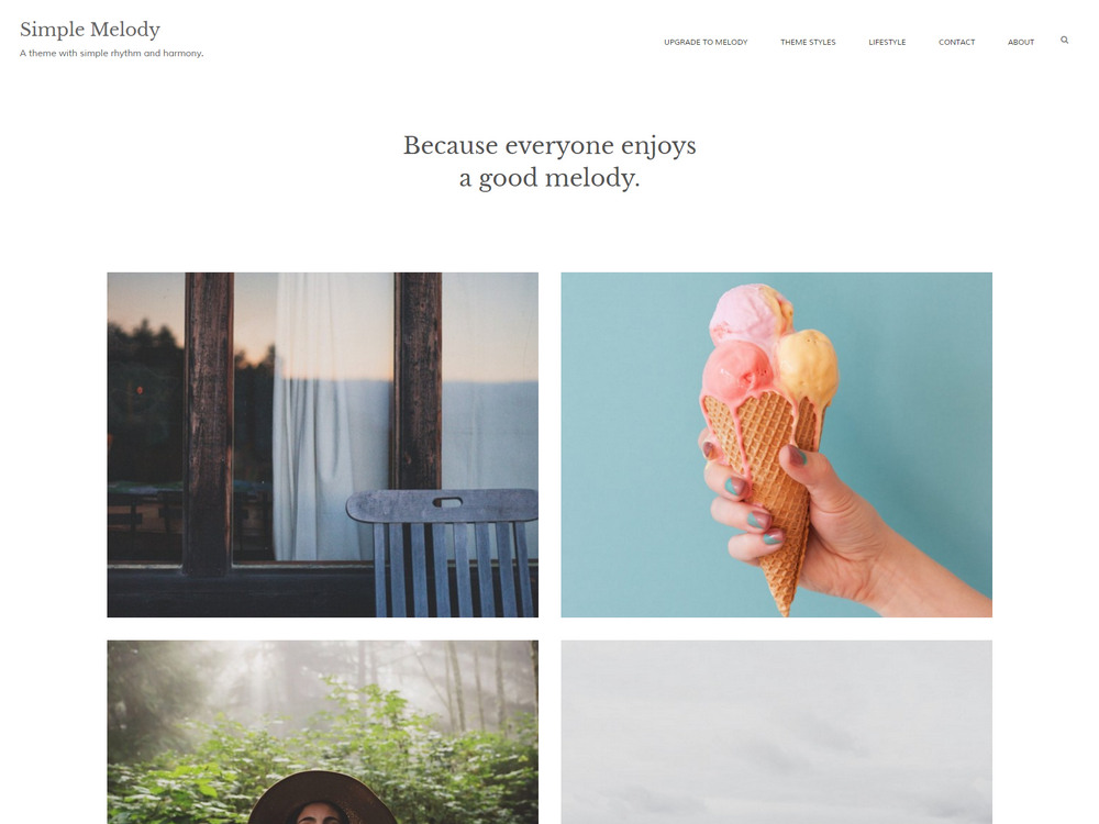 harmonious free wordpress blog theme