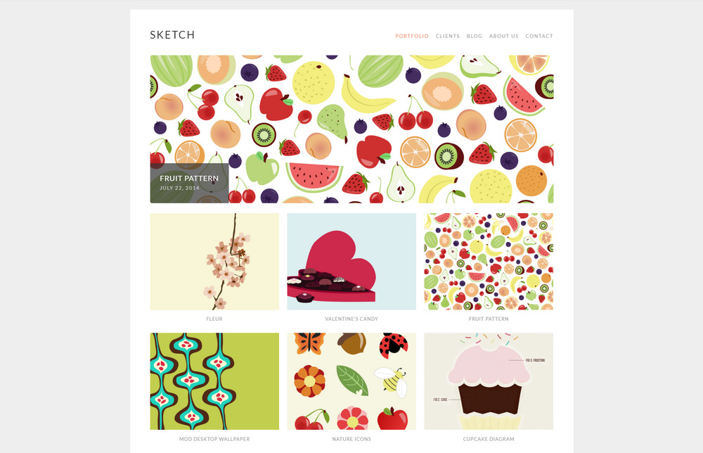 free responsive portfolio theme for artisits