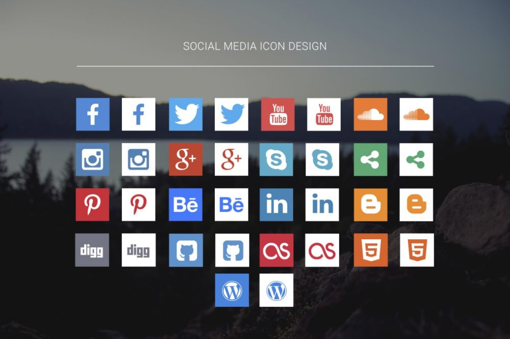 30+ Free Social Media Icons 2018 in PSD and Vector