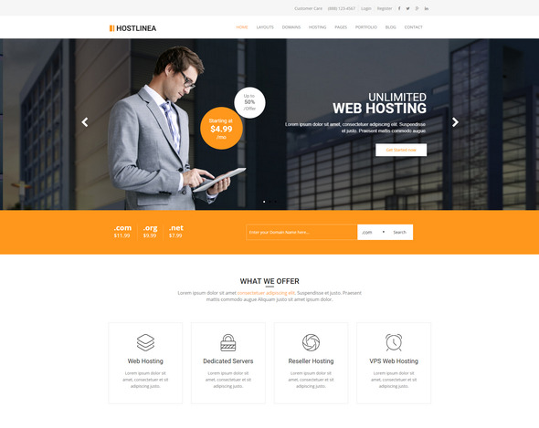 Web Hosting, Responsive HTML5 Template