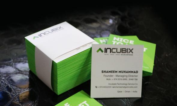 Incubix business card design