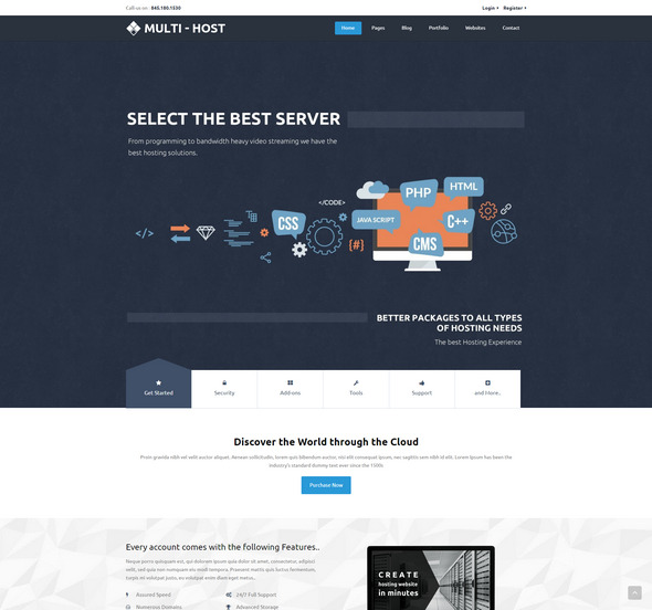 Multi Host - Responsive Hosting Template