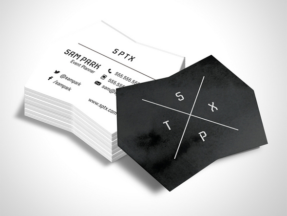 Die Cut Design for business card