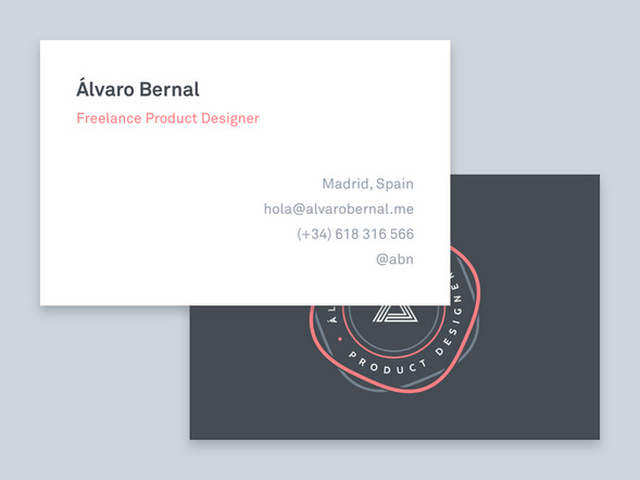 Simple business card freelance