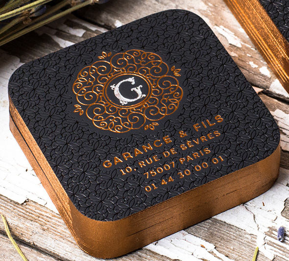 Stylish Square Foiled Business Card