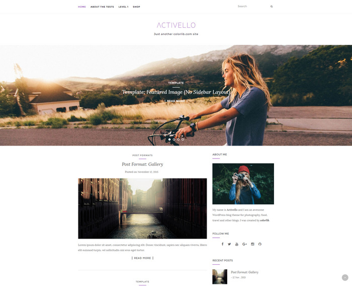activello - free wp blog theme