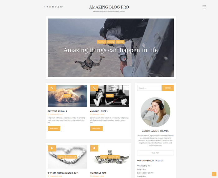 modern fully responsive WordPress blog theme