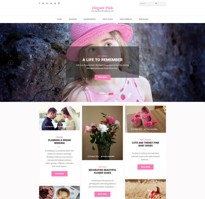 feminine Masonary Blog Theme