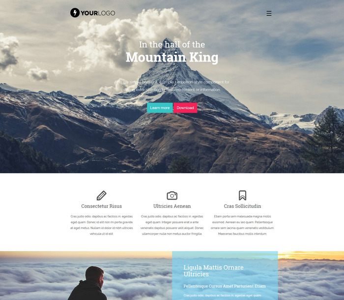 mountain free html5 template