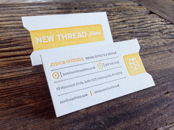 new thread letterpress card
