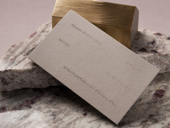 Business card design for fashion designer and writer